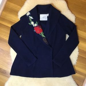 Angel of the North navy blue wool jacket